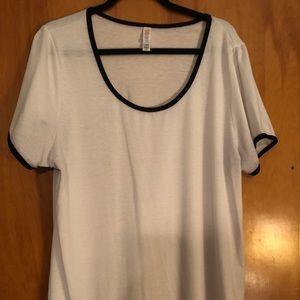 LuLaRoe White shirt with black trim